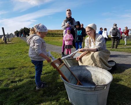 Þvottur þveginn á Árbæjarsafni