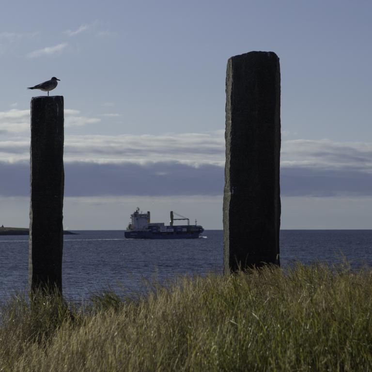 Verkið Áfangar í Viðey eftir Richard Serra