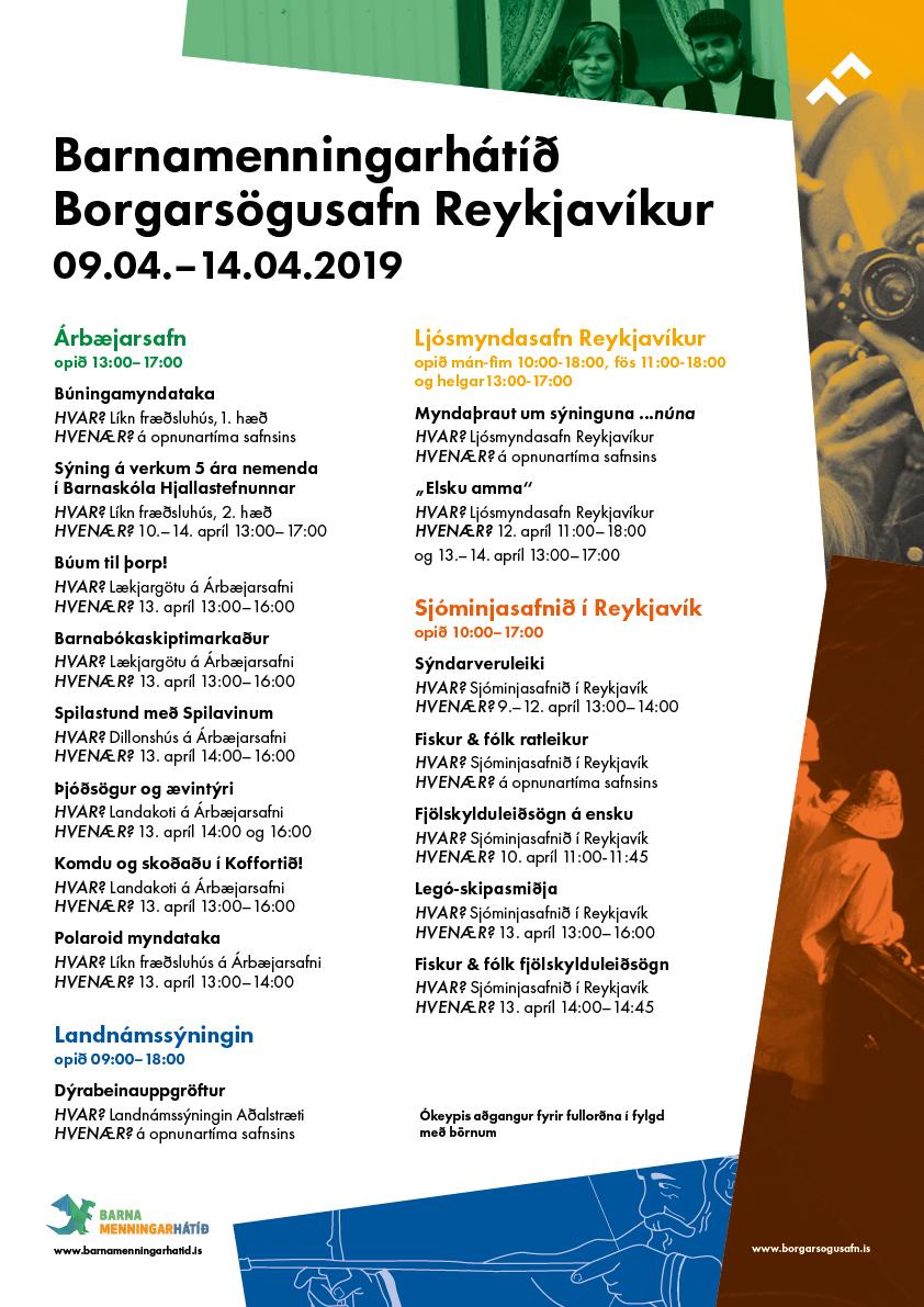 Dagskrá Barnamenningarhátíðar á Borgarsögusafni