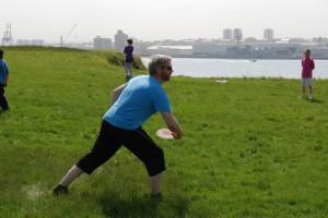 Frisbee í Viðey