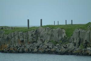 Some cliffs of Viðey Island