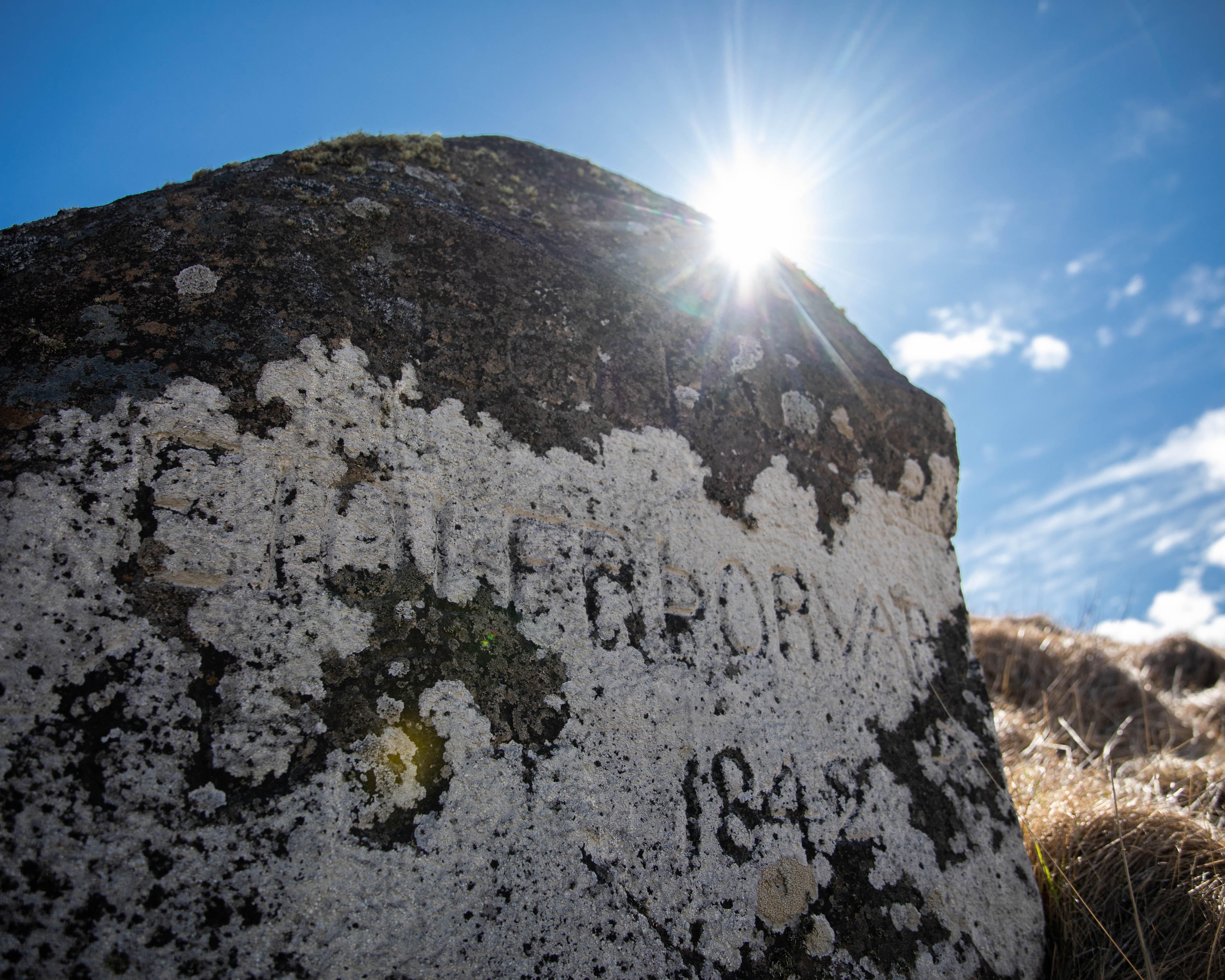 Áletraðir steinar Viðey